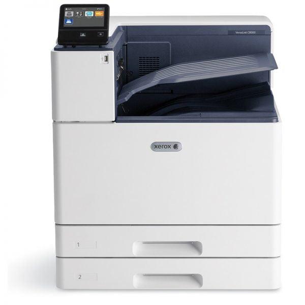 Xerox VersaLink C8000 i C9000 - urządzenie biurowe, charakteryzujące się dużą wydajnością. Drukarki wielofunkcyjne Xerox w opcji dzierżawy, najmu oraz leasingu.